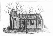 Tekening van het voormalig kerkje