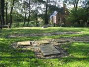 Het kerkhof naar het westen