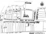 Plattegrond van het centrum van Bedum, vervaardigd door Diederich Ripperda in 1661 010054